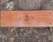 Anchor style two person tree swing anniversary, wedding or memorial gift