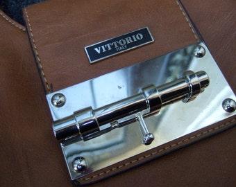 Stylish Brown Vegan Handbag Designed by Vittorio Italy