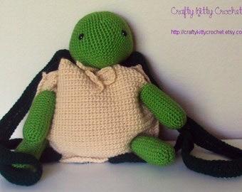 Crochet Amigurumi Turtle Backpack/Pouch