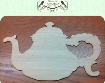 Teapot Wood Cut Out - Laser Cut