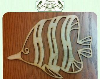 Tropical Fish Wood Cut Out - Laser Cut