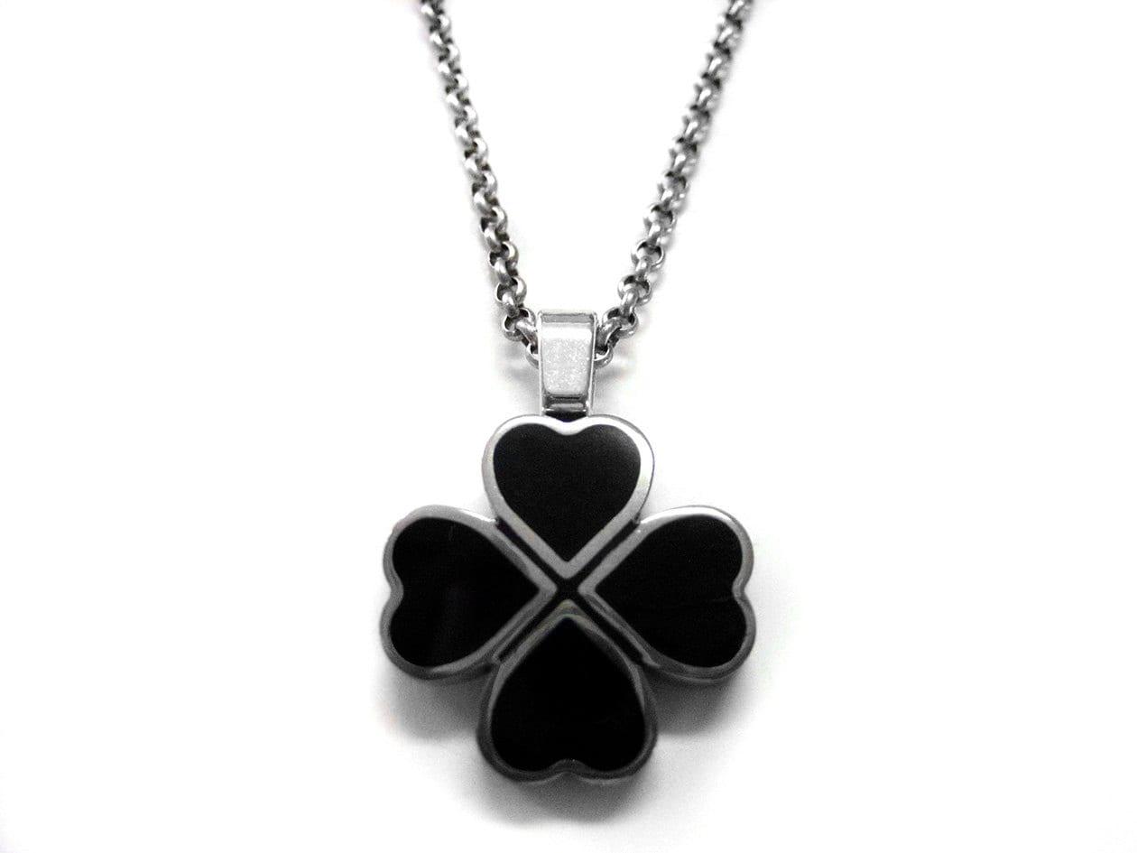 black clover pendant necklace by avantgardedesign on etsy
