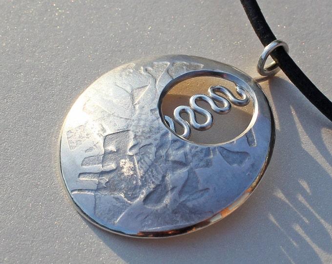 Silver Jewelry, Silver Pendant, Silver Jewellery, Energy Source Pendant.
