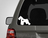 Love your Miniature Schnauzer - silhouette with heart vinyl car decal - pet decal, dog decal, macbook decal, etc...