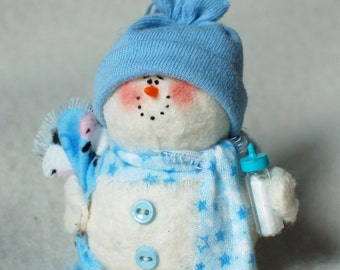 Baby Boy Snowman Ornament