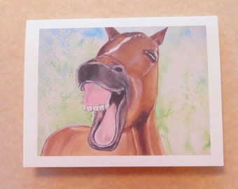Birthday Card Good One Horse Laugh with Envelope