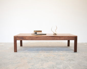 FREE SHIPPING Parsons Coffee Table - Solid Walnut