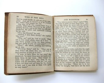 Vintage Book 1920s Will of the Mill and Markheim by Robert Louis Stevenson Little Leather Library