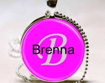 Brenna Name Monogram Handcrafted  Necklace Pendant (NPD0407)