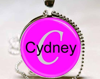Cydney Name Pendant Name Monogram Handcrafted  Necklace Pendant (NPD0681)