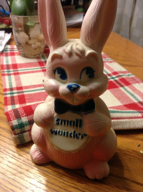 Vintage Shaklee Small Wonder Squeak Toy Collectible Rabbit Bunny