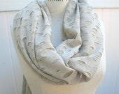 Tan Infinity Scarf  Rugged Shredded Texture Eternity Scarf Fall Winter Fashion  Neck warmer - By PIYOYO