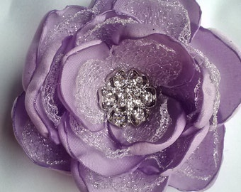 Lavender silver dream flower, handmade lavender and silver wedding accessory/ photography prop