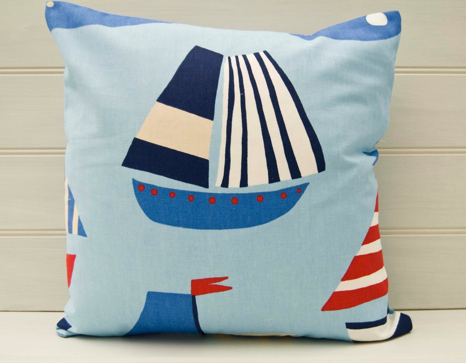 Throw Pillow Covers Nautical : Nautical Throw Pillow Cushion Cover 16 inches UK by GreenCallow