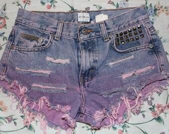 CK pink dip dyed shorts