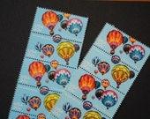 20 Unused Vintage Postage Stamps - Hot Air Balloons