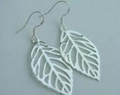 Tree of life earrings, treeoflife jewelry, sterling silver LEAF, long leaf earrings, leaf jewelry, sterling leaf earrings, Christmas gift