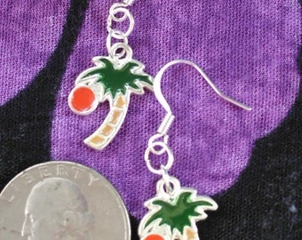 Mini Palm Tree Earrings