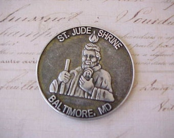 Handsome Vintage St Jude Shrine Medal