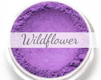 """Eyeshadow Sample - """"Wildflower"""" - matte violet purple  Mineral Eyeshadow (Vegan) Natural Mineral Makeup Eye Color Pigment"""