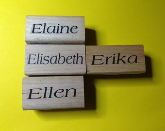 New Unused First Name Rubber Stamps--Female Version Letter 'E'--sold separately--free shipping US