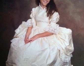 Flower Girl Marie Antoinette gown Pannier made to order choice of color RAW SILK