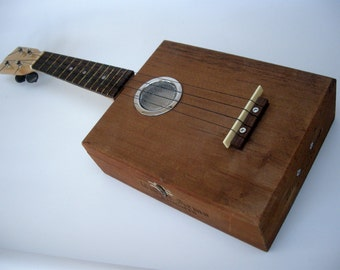 Cigar Box Ukulele Handmade wooden treasure  Rustic