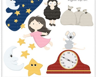 Nursery Rhymes Vol4 - Digital Clip Art , Commercial and Personal Use Clipart, Scrapbook, Printable - Instant Download