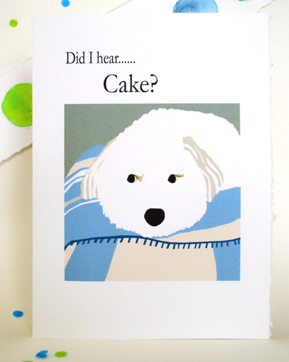 Happy Birthday Card, Puppy, Cute, Cake