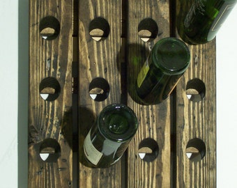Distressed Wood Wine Riddling Rack  French Style  Wine Rack