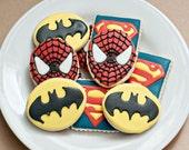 Super Hero Sugar cookies 12