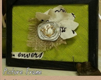 Upcycled Picture Frame Flower