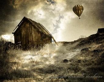 Landscape Photography Oregon Abandoned House Surreal--Fine Art Photography 8x12