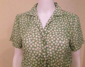 Vintage 1970's Chartreuse summertime dress