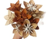 "Bouquet ""Scripture Thankful"" / Religious / Spiritual OOAK Origami Paper Flowers"