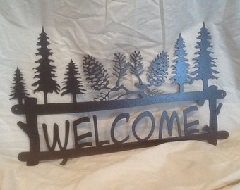 Pine Cone Welcome / Pine Bough Welcome Sign Series
