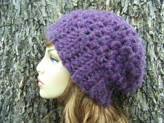 Crochet Hat Patterns For Super Bulky Yarn : PATTERN: Boysen Slouch textured banded hat chunky super