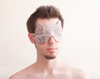Men's Sleep Mask Light Blocking, Original Gift for Him, Gift for Dad or Grandpa, Blindfold for Sleeping travel gifts men