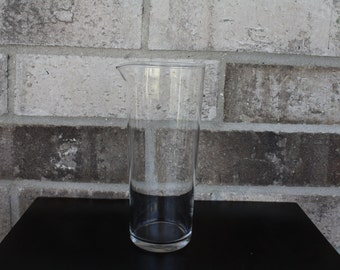 Clear Glass Drink Pitcher, Vintage Water Pitcher