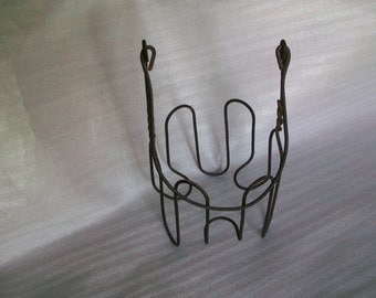 Wire holder for Mason Jar Vintage 80s Collectible