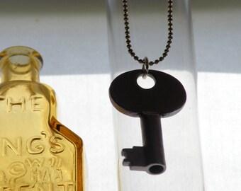 Gunmetal Skeleton Key Necklace
