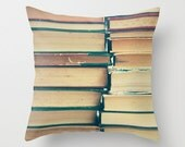 Book pillow, Dorm Decor, Pillow cover, book lover, book art, art book, french decor, french pillow, writer gift, couch pillow, design pillow