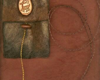 Caper Celidh - wet felted bag