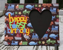 Happy First Birthday Picture Frame