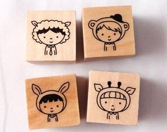 2cmx2cmx2cm Boys rubber stamp set (4set)