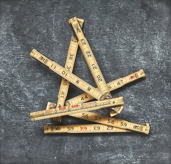 Lufkin 72 Inch Yellow Wooden Folding Ruler Brass Joints And Insert