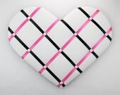 "Black and Pink - Heart Memo Board 25"" x 20"""