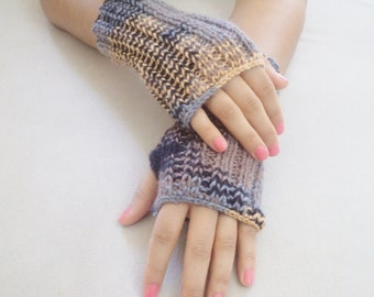 Knit Gloves, Fingerless Gloves, Mittens, women accessories, For Her Gifts, colorful glove
