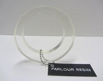 Offset Resin Bangle Size Medium Clear