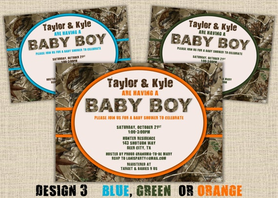 items similar to camo baby shower invitation  hunting camouflage, Baby shower